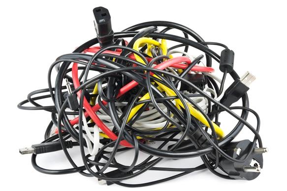 Bundelen Kabels En Snoeren